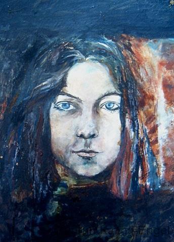 Selbst-Jugendporträt
