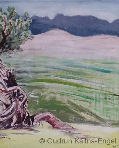 Olive im Nebel